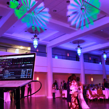Blue Diamond Events Intelligent Lighting patterns can be customized to your decor scheme!  | Blue Diamond Events Weddings | Columbia, MO