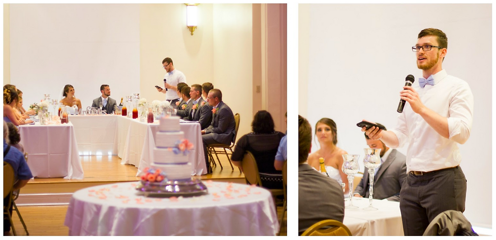 toast, best man speech, kimball ballroom, cake, weddings, columbia, mo, mid-mo, blue diamond events, dj, wireless microphones, mics, wedding planning, event dj