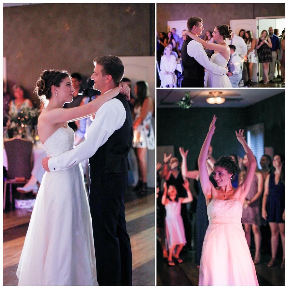 first dance, bouquet toss, blue diamond events dj, weddings, columbia, mo, missouri, mid-mo, photography, cherry hill event center