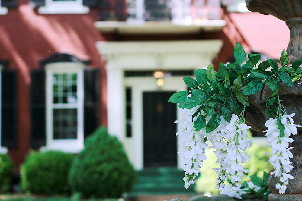 wedding signage, outdoor ceremony, blue diamond events, the mansion 1857, o'fallon, il