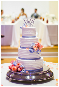 Mr & Mrs, Cake, Wedding, Weddings, Kimball Ballroom, Blue, Pink, Flowers, cake topper, cake stand, wedding moments, wedding photography, couples, bride and groom, columbia, mo, mid-mo, blue diamond events, dj, photography