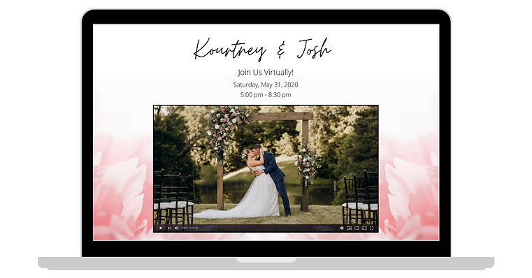 Virtual Wedding Invite | Blue Diamond Ev