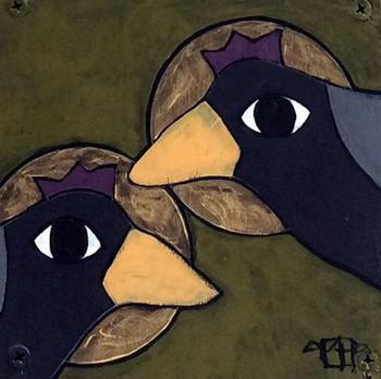 Crow Magic, Teri Barnett, 6x6, acrylic o