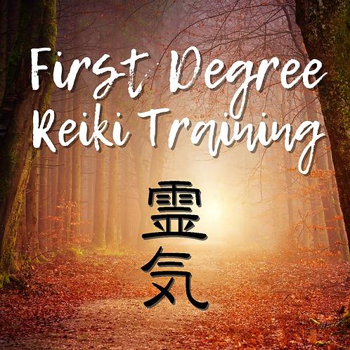 1st Degree Reiki Class: 08.22.20