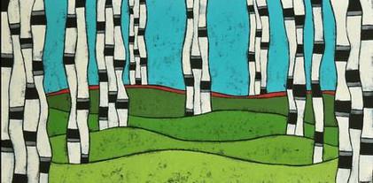 75-Summer Birch, Teri Barnett, acrylic o