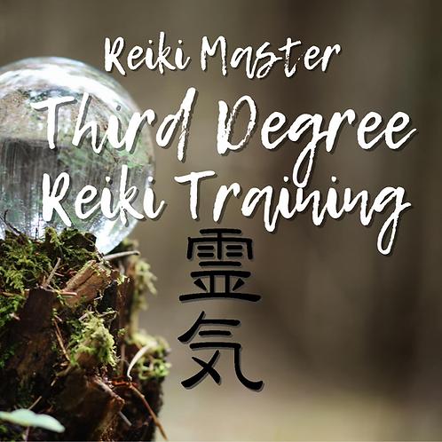 Reiki Master 3rd Degree Reiki Class Part A: 09.26.20