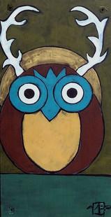 Ghost Owl, Teri Barnett, 12x6, acrylic o