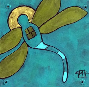 New Soul, Teri Barnett, 6x6, acrylic on