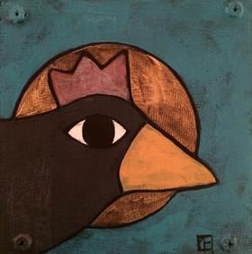 8-crow magic 2, Teri Barnett, 6x6, acryl