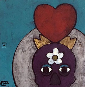 Love Endures, Teri Barnett, 6x6, acrylic