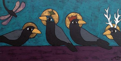 Sisters, Teri Barnett, 12x24, acrylic on