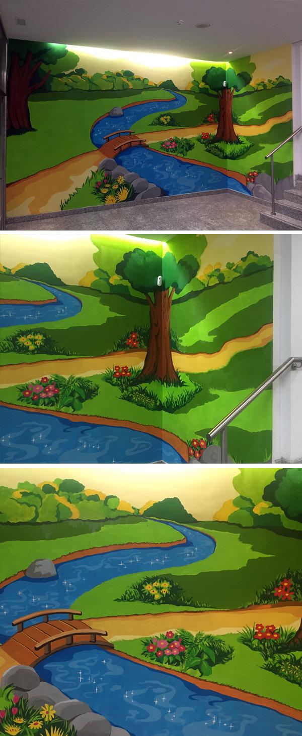 mural infantil colegio