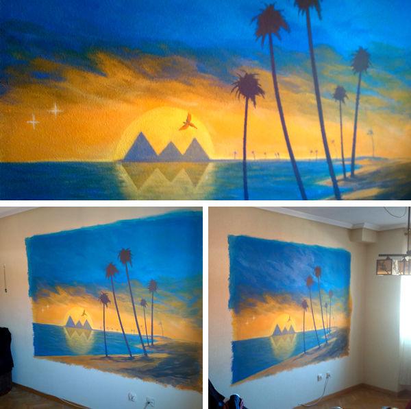 mural salon tema egipto