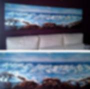 Pintura mural marina para salón