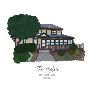 The Hogles Home Sketch