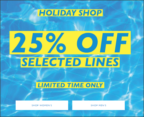 《JACK WILLS 優惠》- 全場減價貨品低至3折,Holiday Shop貨品低至75折