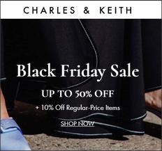 《Charles & Keith 季末優惠》精選鞋款、包款、配件低至7折 (優惠至12月24日)