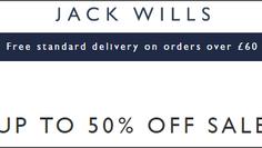 JACK WILLS 夏日優惠 - 折上折優惠碼減價貨品額外再85折 (優惠到7月16日)
