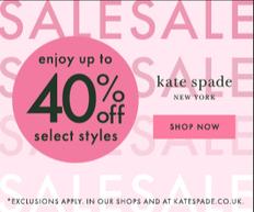 【Kate Spade 雙11優惠】- 全網雙11指定貨品享額外8折(優惠至19年4月3日)