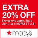 《Macy's 週末優惠》週末減價貨品額外8折+免運費 (優惠至18年4月16日)