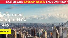 《New York Pass 優惠》低至75折優惠 加贈送 New York Pass旅遊書 (優惠至18年3月30日)
