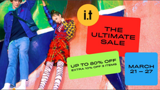 《i.t Ultimate Sale優惠》 指定減價貨品低至2折發售(CHOCOOLATE STYLENANDA Fred Perry izzue CHARMS earth music&eco