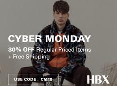 《HBX Cyber Monday優惠》- 全網享7折+免運費 (優惠至11月27日)