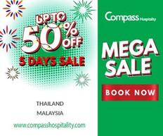 【康帕斯酒店Compass Hospitality 5天MEGA SALE優惠】酒店低至5折(優惠到8月13日)