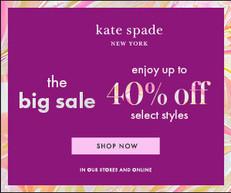 【Kate Spade 優惠】- 購物滿£200即減£50 購物滿£300即減£100(優惠至2020年10月31日)