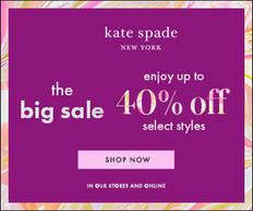 【Kate Spade 優惠】- 全精選季中優惠減價貨品低至6折 (優惠至2020年4月5日)