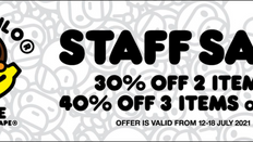 《ITeSHOP 優惠》- 絕密流出 AAPE & BABY MILO Staff Sale精選產品低至6折 (優惠至2021年7月18日)