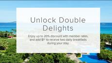 【Marriot 萬豪酒店優惠】 萬豪旅享家會員尊享房價低至8折 +1元更可獲雙人早餐輕鬆優享升級禮遇 (優惠到2020年8月31日)