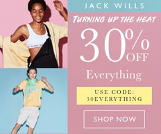 《JACK WILLS 優惠》- 全場精選貨品即享7折優惠 (優惠至6月2日)