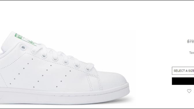 《SSENSE 優惠》- Stan Smith 經典鞋款低至$285 +全球免運費