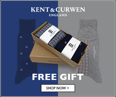 【Kent & Curwen 5.1優惠】 - 購物滿£380 送襪子禮盒 (優惠到18年5月31日)