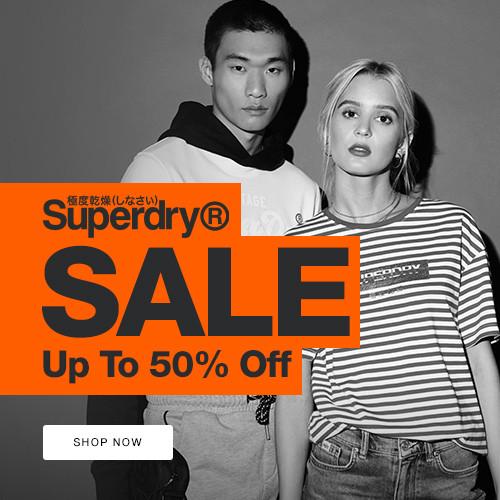 《Superdry 新年優惠》特選減價貨品低至5折+ 免運費 (優惠至20年1月31日)