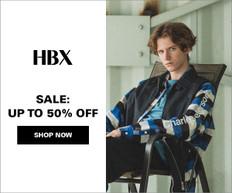 《HBX 優惠》- 全場減價貨品加碼享低至5折優惠 + 免運費