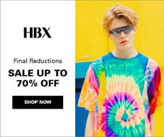 《HBX 優惠》- 精選正價貨品額外85折 + 免運費