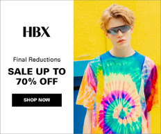 《HBX 優惠》- 精選減價貨品低至3折再額外享85折優惠 + 免運費