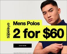 《Superdry 優惠》男士Polo Tee 2件只需US$60+ 運費(優惠至6月25日)