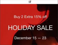 《ITeShop 假日優惠》I.T: 精選減價貨品,買2件可享額外85折 (優惠至2020年12月23日)