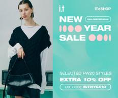 《ITeShop 新年優惠》I.T: 購物滿HK$2021可享額外9折 (優惠至2021年1月10日)