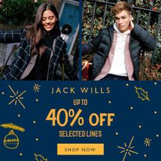 《JACK WILLS優惠》- 全場貨品低至6折優惠 (優惠至12月16日)