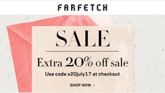 【Farfetch夏日優惠】- 折上折優惠碼減價貨品額外再8折