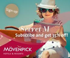 【Movenpick hotel 72小時優惠】瑞享酒店亞洲及中東酒店低至65折 (優惠到8月29日)