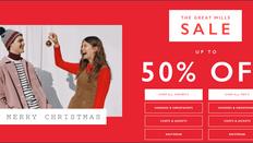 《JACK WILLS 聖誕優惠》-  全場貨品低至5折 優惠 (優惠至19年1月3日)