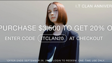 《ITeSHOP 優惠》購買精選CLAN產品滿HK$3500即享8折 (優惠至2021年9月26日)