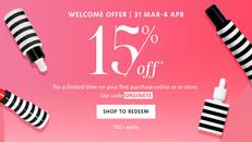 【Sephora優惠】- Beauty Pass新會員首次購物可享85折(優惠到2021年4月4日)