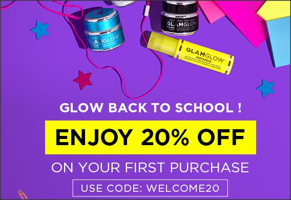 【GLAMGLOW 優惠】- 新會員首次購物可享8折 (優惠到2020年9月6日)