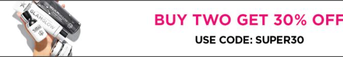 【GLAMGLOW 優惠】- 買2件SUPERMUD系列產品可享全單7折 (優惠到2020年9月25日)